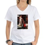 Princess & Wheaten Women's V-Neck T-Shirt