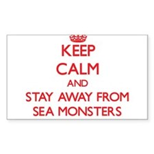 Keep calm and stay away from Sea monsters Decal