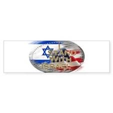 Cute I stand for israel Bumper Sticker