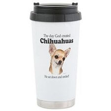 God smiled chihuahuas Travel Mug
