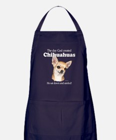 God smiled chihuahuas Apron (dark)