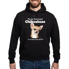 God smiled chihuahuas Hoodie
