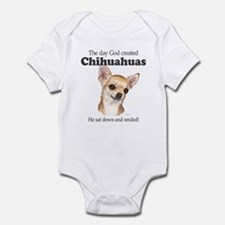 God smiled chihuahuas Infant Bodysuit