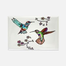 JEWELED HUMMINGBIRDS AND FLOW Rectangle Magnet