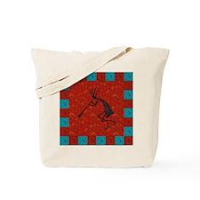 Kokopelli Mosaic Tiles Red Co Tote Bag