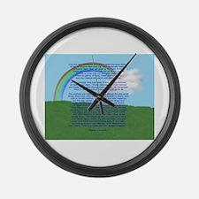 RainbowBridge2.jpg Large Wall Clock