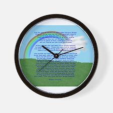 RainbowBridge2.jpg Wall Clock