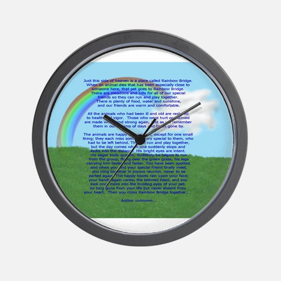 RainbowBridge2.jpg Wall Clock