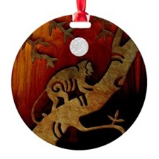 Harvest Moons Monkey Yin Yang Ornament