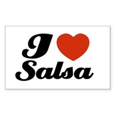 I love Salsa Rectangle Decal