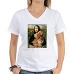 Mona's Golden Retriever Women's V-Neck T-Shirt