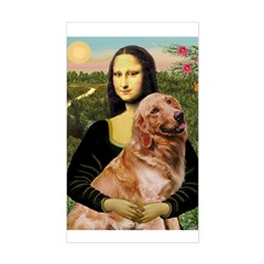 Mona's Golden Retriever Sticker (Rectangle)