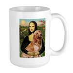 Mona's Golden Retriever Large Mug