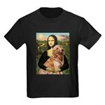 Mona's Golden Retriever Kids Dark T-Shirt