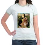 Mona's Golden Retriever Jr. Ringer T-Shirt
