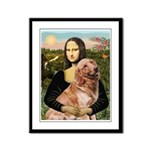 Mona's Golden Retriever Framed Panel Print