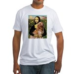 Mona's Golden Retriever Fitted T-Shirt