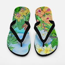 Cool Botanical Flip Flops