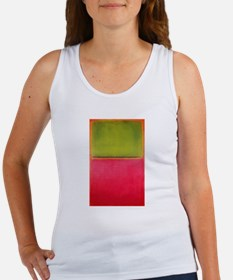 ROTHKO GREEN AND HOT PINK Women's Tank Top