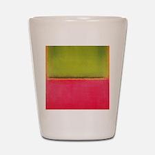 ROTHKO GREEN AND HOT PINK Shot Glass