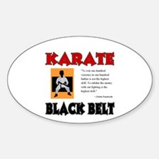 Black Belt Oval Decal