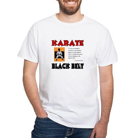 Black Belt White T-Shirt
