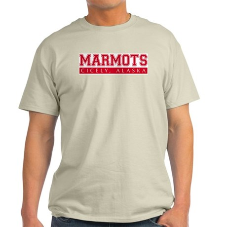 Cicely Marmots Ash Grey T-Shirt