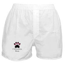 Chihuahua Mom Paw Print Boxer Shorts