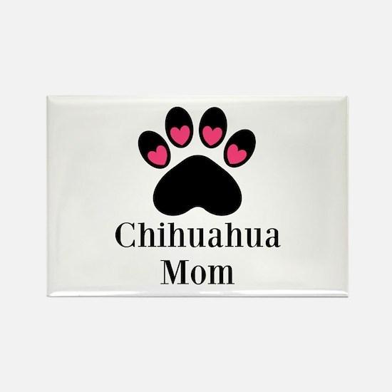 Chihuahua Mom Paw Print Magnets