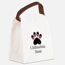 Chihuahua Mom Paw Print Canvas Lunch Bag