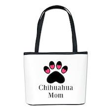Chihuahua Mom Paw Print Bucket Bag