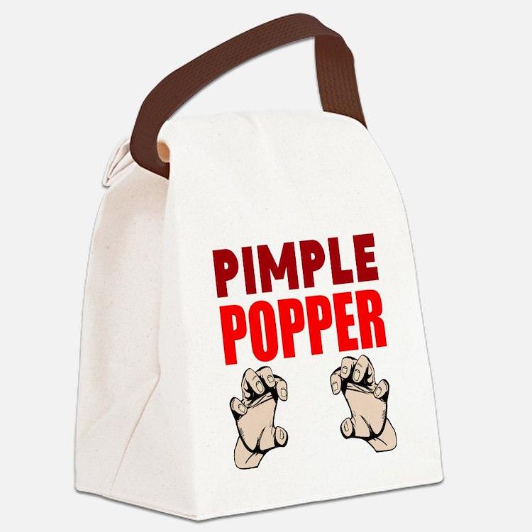 Pimple Popper Canvas Lunch Bag