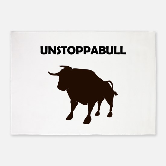 Unstoppabull (Unstoppable Bull) 5'x7'Area Rug
