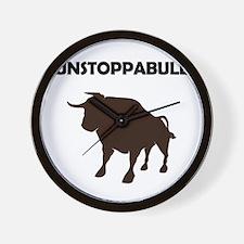 Unstoppabull (Unstoppable Bull) Wall Clock