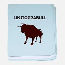 Unstoppabull (Unstoppable Bull) baby blanket