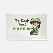 Daddy Saves Soldiers Magnets