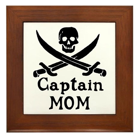 Captain Mom Framed Tile