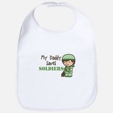 Daddy Saves Soldiers Bib