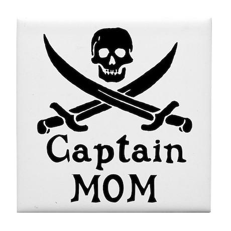 Captain Mom Tile Coaster