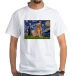 Starry Night Golden White T-Shirt