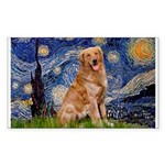 Starry Night Golden Sticker (Rectangle)