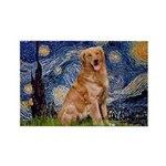 Starry Night Golden Rectangle Magnet