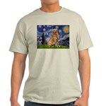 Starry Night Golden Light T-Shirt