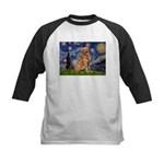 Starry Night Golden Kids Baseball Jersey