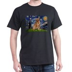 Starry Night Golden Dark T-Shirt