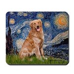 Starry Night Golden Mousepad