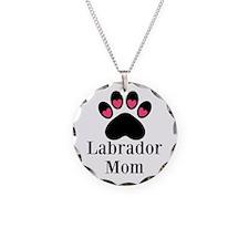 Labrador Mom Paw Print Necklace