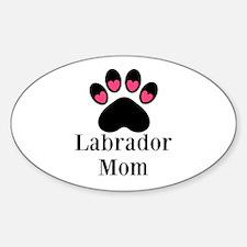 Labrador Mom Paw Print Decal