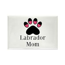 Labrador Mom Paw Print Magnets