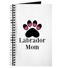 Labrador Mom Paw Print Journal